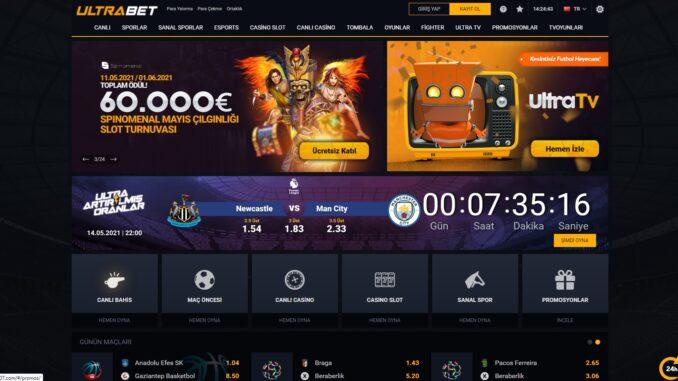 Ultrabet canlı casino şirketi